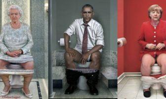 photomontage : les presidents aux toilettes par Cristina Guggeri