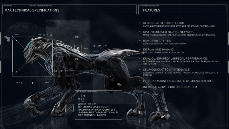 Le robot militaire MAX par Craine Systems