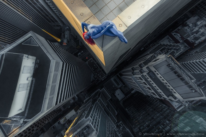 Superheroes on Skyscrapers : Mystique