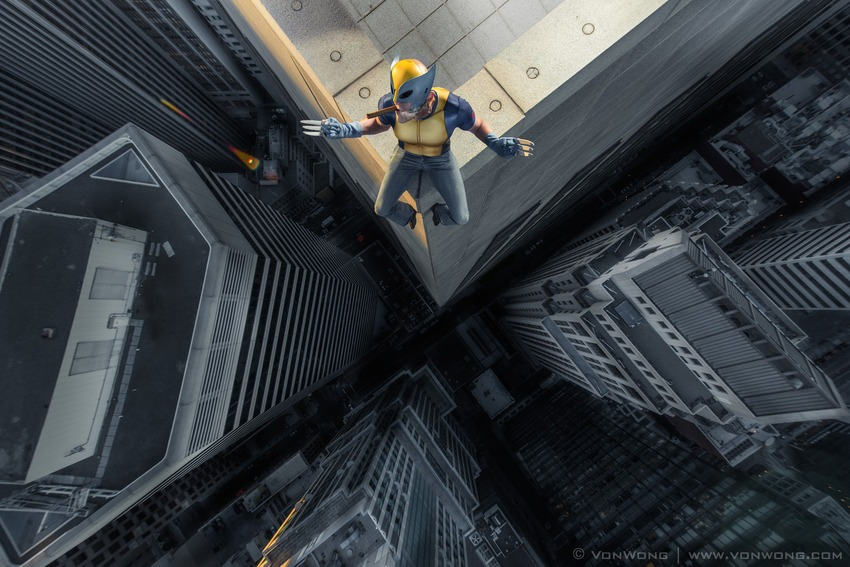 Superheroes on Skyscrapers : Wolverine