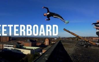 Parkour : Damien Walters s'amuse avec une teeterboard