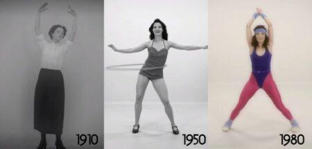 1910 à 2010 : 100 ans de fitness féminin en 100 secondes