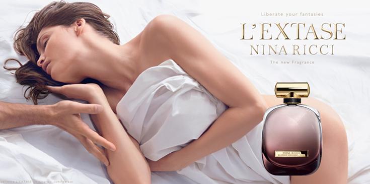 Nina Ricci pub du parfum L'Extase 2015 avec Laetitia Casta nue