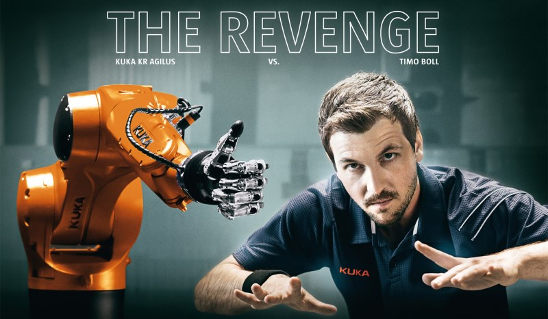 The Revenge: Timo Boll vs. KUKA Robot