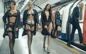 Bluebella organise un défilé de lingerie dans le métro à Londres