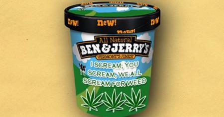 la glace au cannabis par Ben & Jerry's