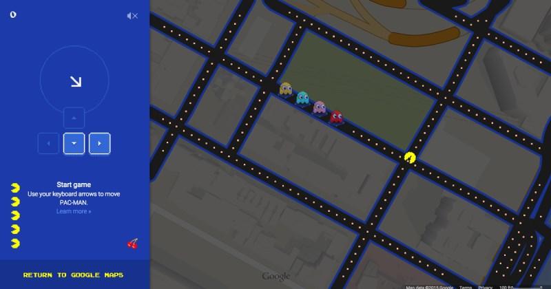 Poisson d'avril 2015 : google maps version pacman