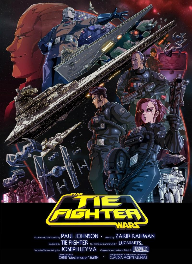Poster de TIE Fighter Star Wars par Paul Johnson