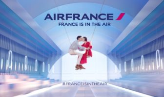 pub Air France 2015 avec des balançoires #franceisintheair