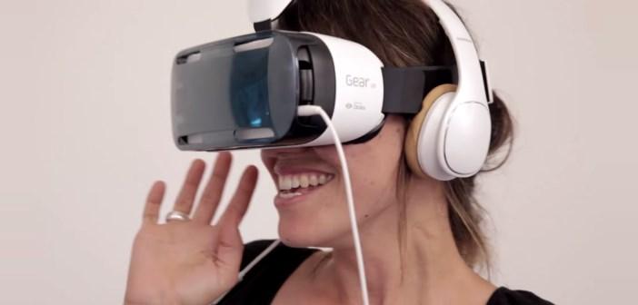samsung Gear VR plongée virtuelle avec des requins dans le désert