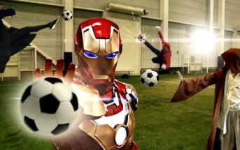 Superhero soccer : un match de foot avec des Super-héros