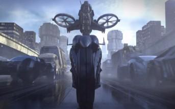 Speedhack : le concept du film Extropy avec une moto futuriste