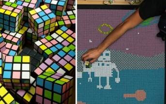 Stop motion : animation de dingue avec 1300 Rubik's cubes !