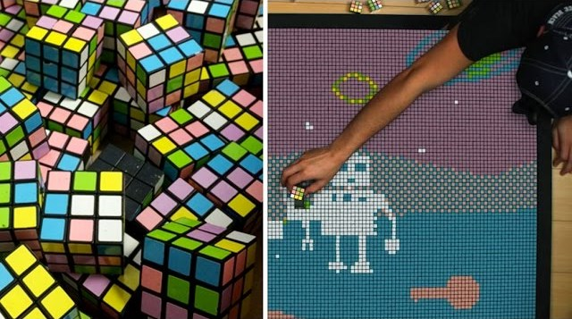 Rubik's Cube Animation stop motion