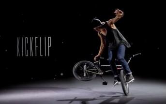 Vidéo incroyable de BMX acrobatique filmée en bullet time