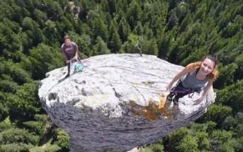 Vidéo : 2 français escaladent un monolithe de 93m en Savoie