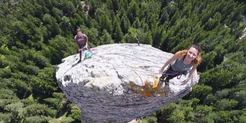 GoPro : escalade du Monolithe de Sardières