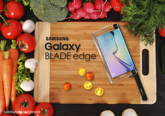 Le poisson d'avril 2015 de Samsung avec son Galaxy Blade Edge