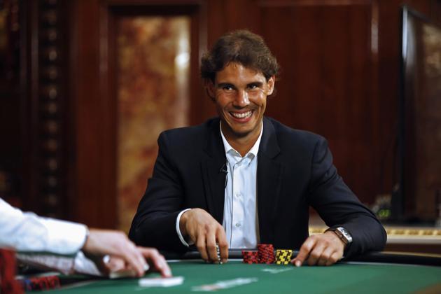 rafael nadal joue au poker