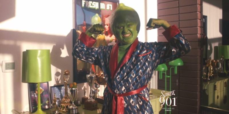 Justin Timberlake deguisé en citron vert dans la pub de la Tequila Sauza 901