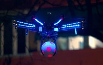 Un drone joue les arbitres de football pour Pesi Max