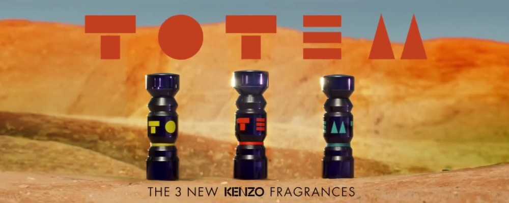 flacons des 3 parfums kenzo totem 2015