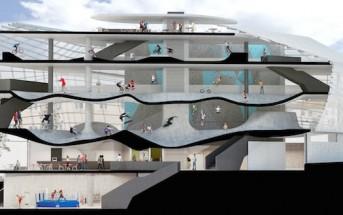 Folkestone Sports Park : un skatepark futuriste sur 6 étages