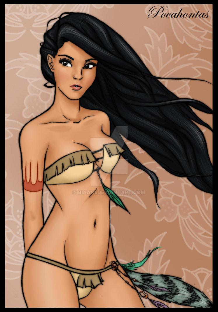 Princesse disney sexy en lingerie : Pocahontas