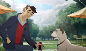 Pub man & dog par coca-cola
