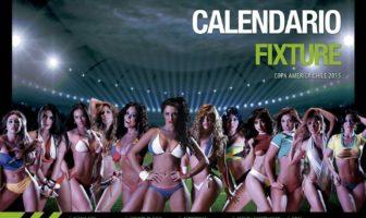 Couverture du calendrier sexy de la Copa America 2015