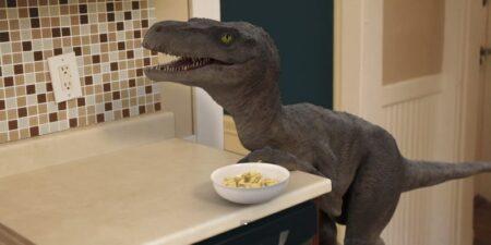 dinosaure vélociraptor domestique