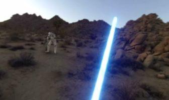 jedi avec une caméra embarqué gopro : le fan film star wars