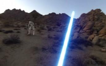 Fan film Star Wars : un Jedi se filme avec sa GoPro
