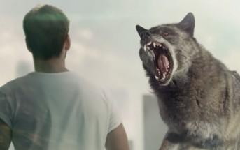 Musique et mannequin de la pub Diesel 2015 avec un loup