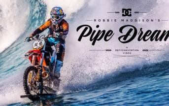 Pipe dream : Robbie Maddison surfe une vague en moto cross