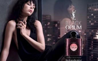 Fille brune et musique de la pub YSL Black Opium 2015