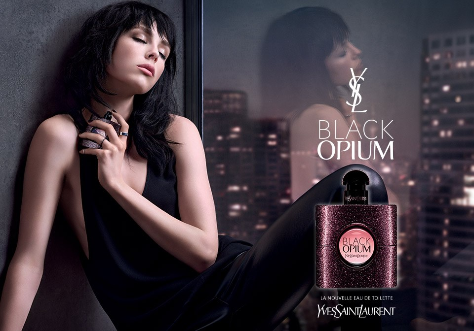 fille brune et musique de la pub ysl black opium 2015. Black Bedroom Furniture Sets. Home Design Ideas