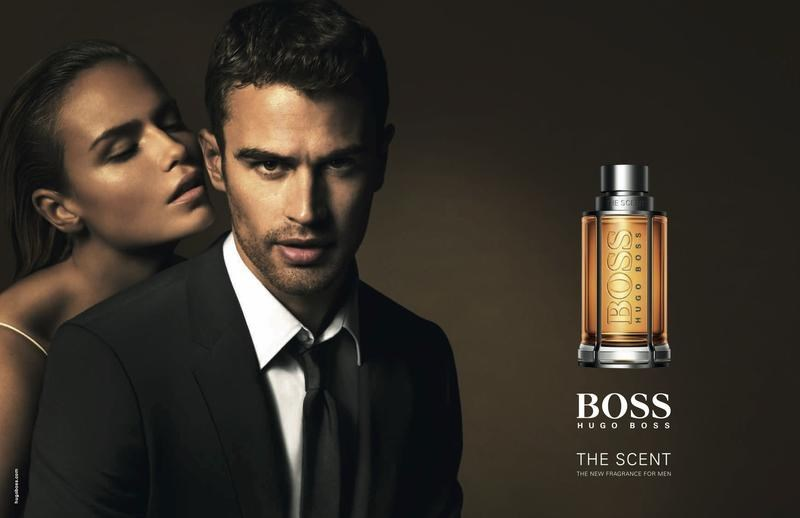 pub du parfum hugo boss the scent avec Theo James et Natasha Poly