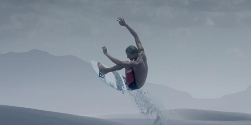 surf dans le désert