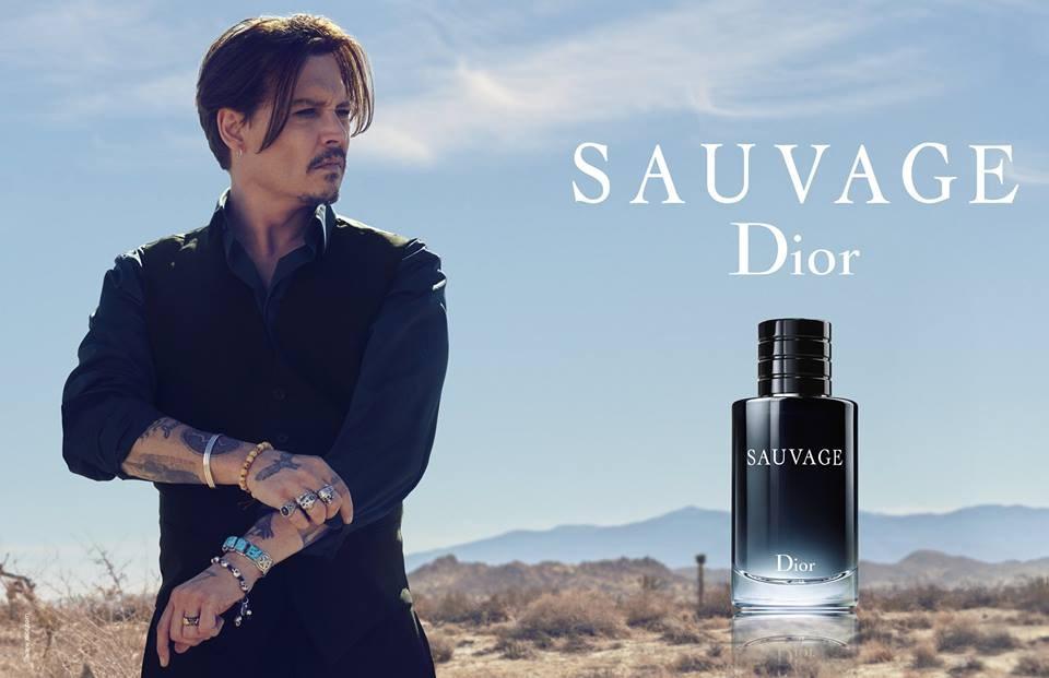 johnny depp sauvage parfum dior
