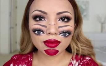 Ce maquillage double visage trouble la vision pour Halloween