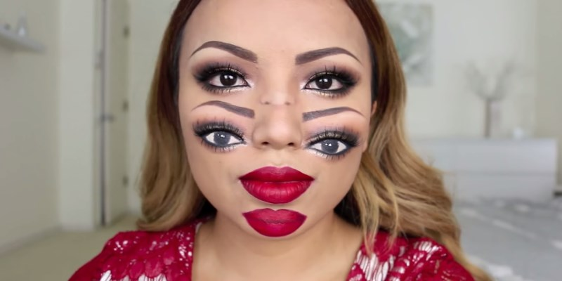 maquillage double visage pour halloween