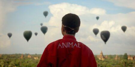 Fakear A nimal : clip avec un enfant en Birmanie fan de montgolfières