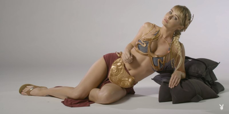 Sara Jean Underwood en princesse Leia sexy - playboy Star Wars