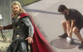 Il créée un vrai marteau de Thor que lui seul peut soulever