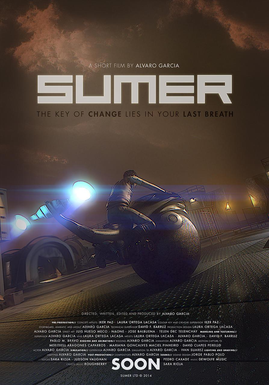sumer : affiche du court-métrage d'Alvaro Garcia