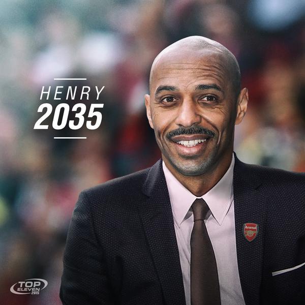 Thierry Henry futur entraîneur d'Arsenal en 2035