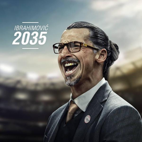 Zlatan Ibarhimovic futur entraîneur de l'Ajax Amsterdam en 2035