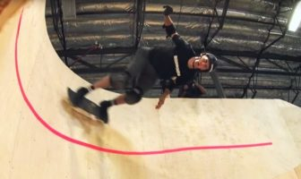 Tony Hawk looping horizontal skate