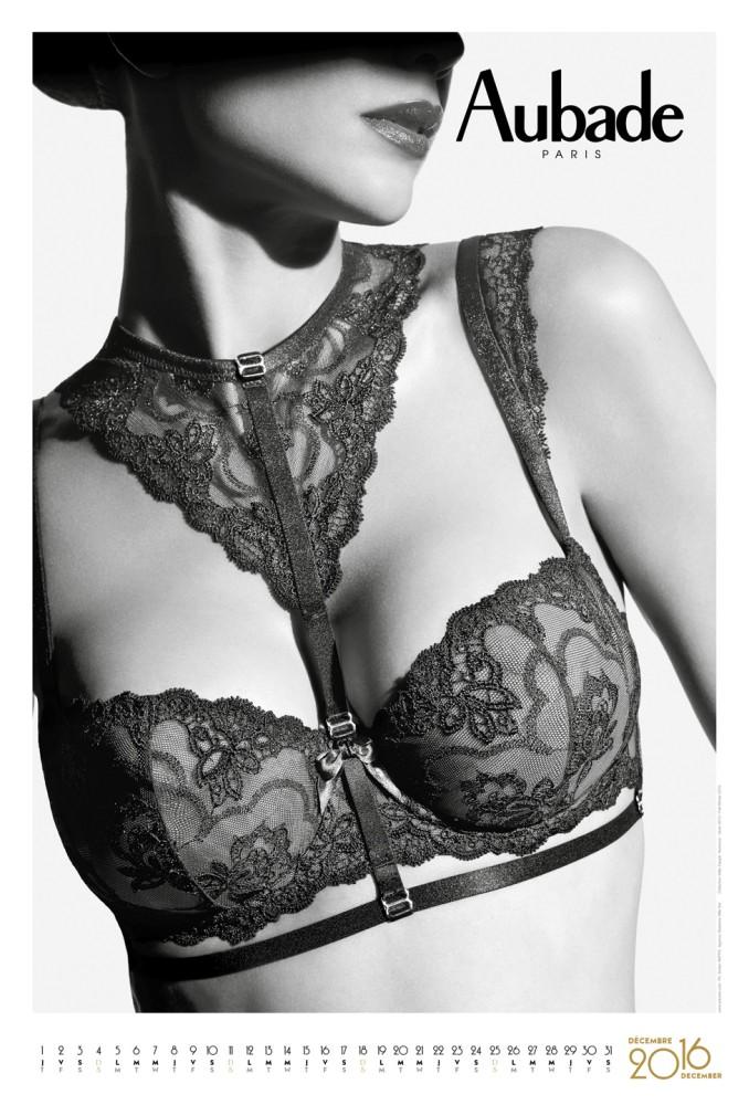 Calendrier Aubade décembre 2016 : soutien gorge en dentelle sexy